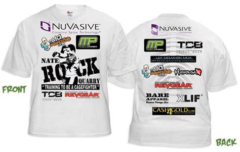 Nate Quarry The Rockhammer Walkout T Shirt Fighterxfashion Com Shirt Sponsor Template