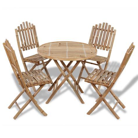 vidaxl co uk vidaxl foldable outdoor bamboo dining set 1
