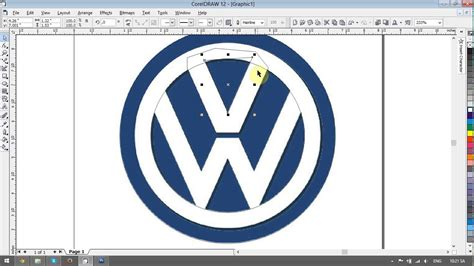 tutorial corel draw typography volkswagen logo design tutorials in corel draw doovi