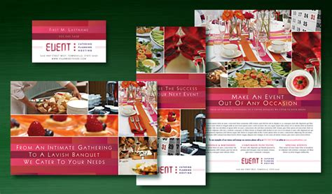 design of event planning graphic design for corporate event planner caterer