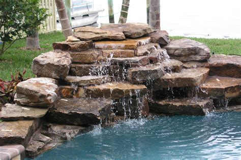 rock waterfalls for pools home pools with a waterfall swimming pool waterfall
