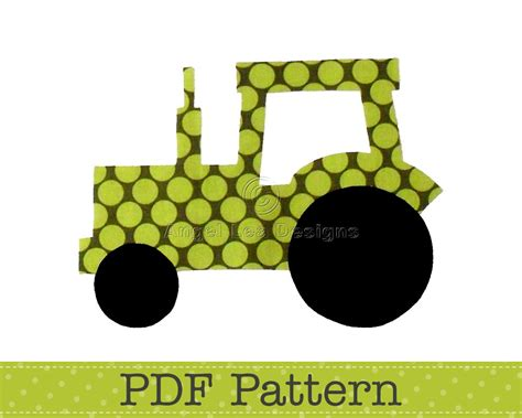 tractor applique template transport farm diy children pdf