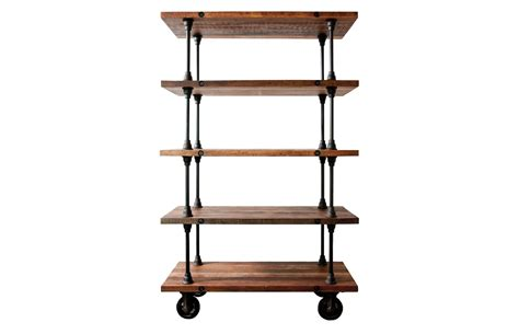 district eight 5 tier shelving unit in reclaimed wood