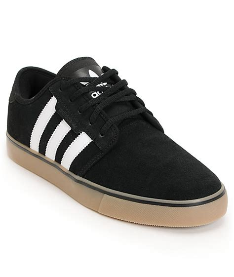 adidas suede shoes adidas seeley black gum suede shoes at zumiez pdp