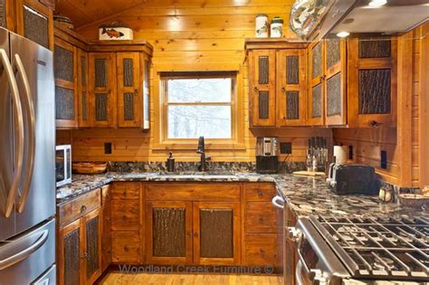 rustic painted kitchen cabinets rustic kitchen cabinets cabin cabinetry knotty alder