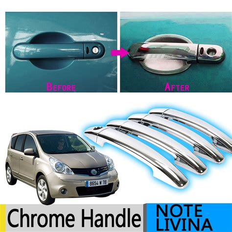 Nissan Grand Livina Handle Cover Chrome 1 for nissan note e11 chrome door handle cover trim set of 4pcs livina 2005 2013 2008 2009 2010