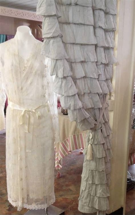 french provincial curtains 2 shabby french provincial chic grey petticoat ruffle