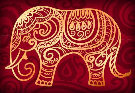 hindu pattern art hindu elephant drawing lesson step by step art pop