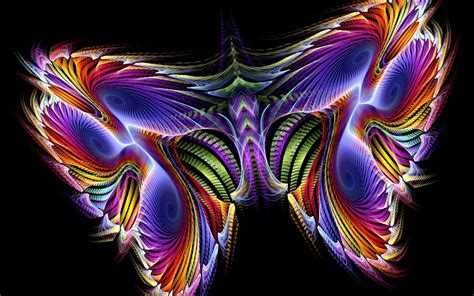 beautiful dark colors color butterfly with black background 3d gamin 2301 hd