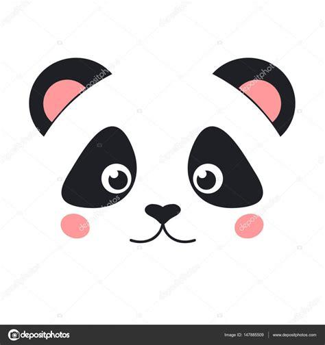 desenho cartoon panda rosto vetores de stock 169 el4anes 147885509