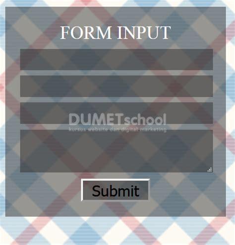 membuat gambar transparan css membuat tilan form input transparan menggunakan css