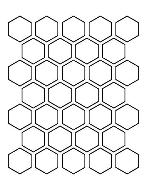 1 5 inch hexagon template hexagons hexagon pattern and templates on