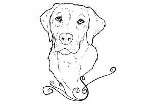 How To Draw Yellow Lab Coloring Pages sketch template