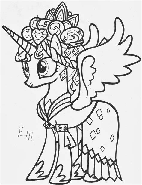 coloring pages of princess cadence freecoloring4u com
