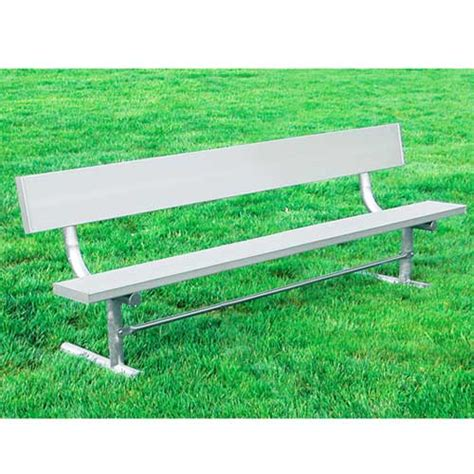 aluminum outdoor benches ultraplay aluminum bench w back 21 940 a21 outdoor benches worthington direct