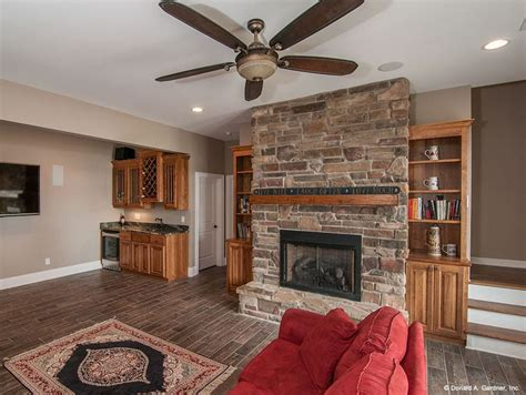 image detail for basement rec room designs tuscan living walkout basement rec room with stone fireplace built ins