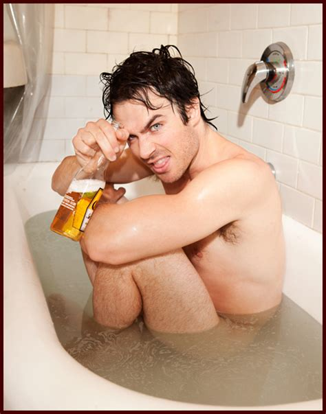 sexy in bathtub ian somerhalder jumps in the bathtub for sexy butch hogan