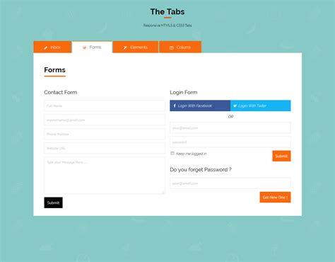 html css tab layout the tabs responsive html5 css3 tabs by reverietech