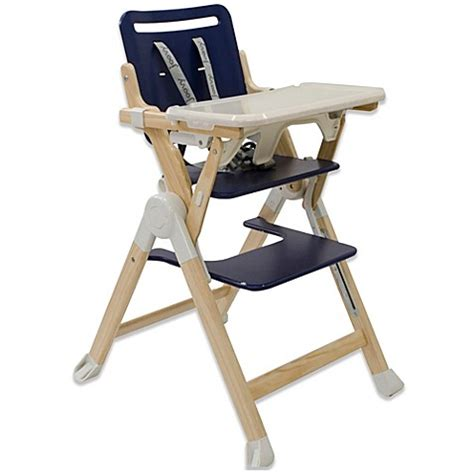 joovy nook high chair joovy 174 wood nook high chair in blueberry buybuy baby