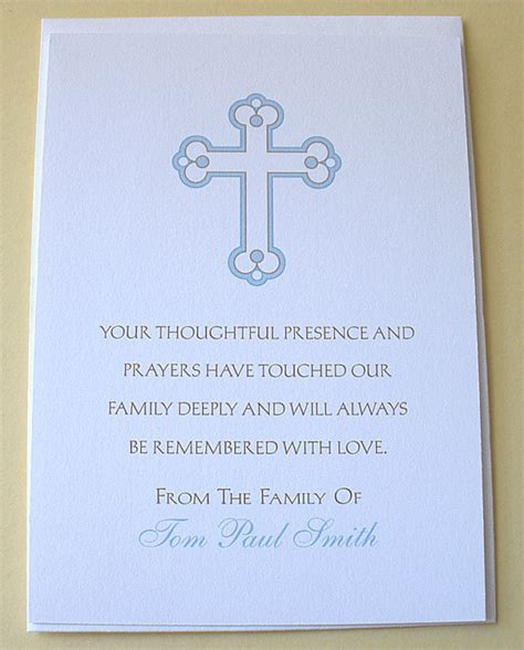 Thank You Letter To Religious Religious Sympathy Thank You Cards With A Cross By Zdesigns0107