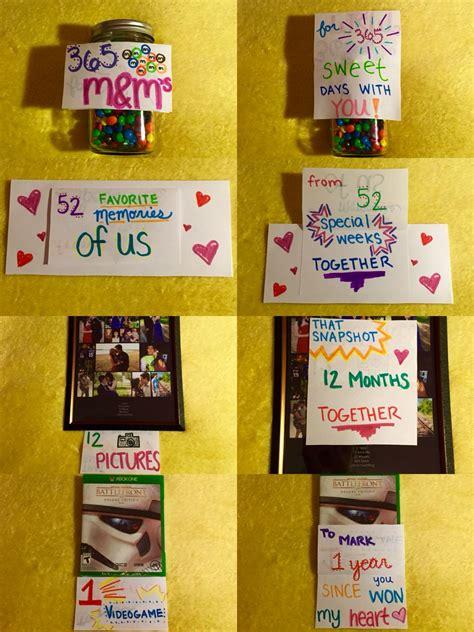 1 Year Anniversary Ideas For Boyfriend Diy by Made For My Boyfriend For Our 1 Year Anniversary Diy