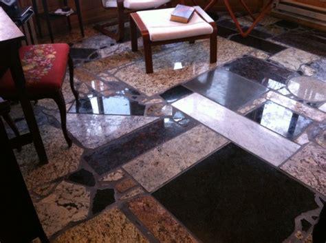 granite floors made from granite countertop scrap total