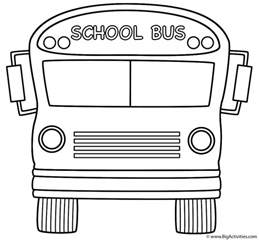bus front coloring page transportation