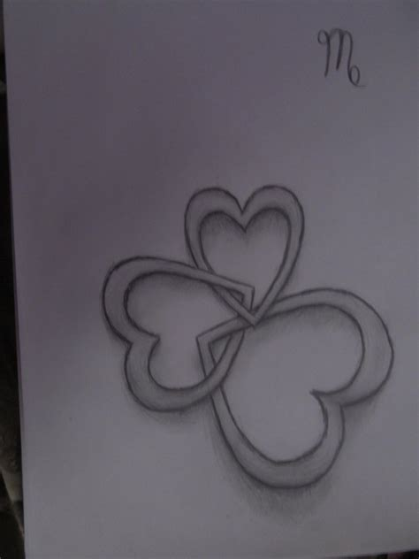 four hearts tattoo designs interlocking hearts design by wanderlust1 on deviantart