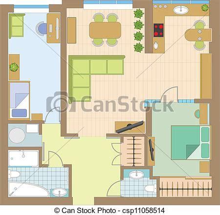 wohnung clipart clip vecteur de appartement dessin csp11058514