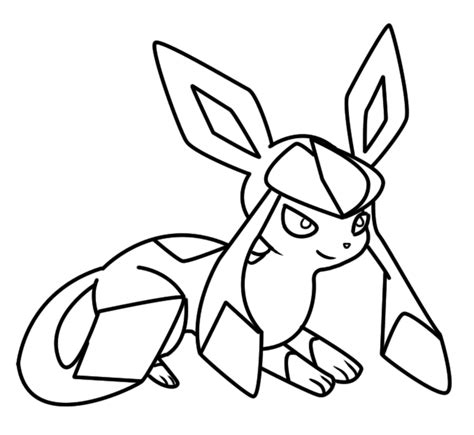 pokemon coloring pages glaceon glaceon coloring page 2 by bellatrixie white on deviantart