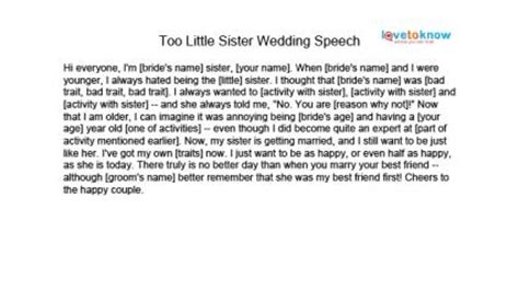 Maid Of Honor Speech Examples Alisen Berde Of Honor Speech Template