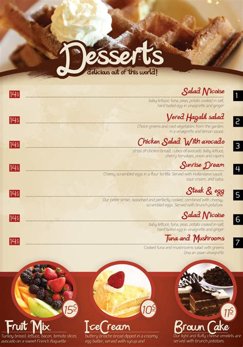 cafe design templates 65 restaurant menu brochure designs for designers