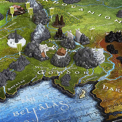 the map of the earth lord of the rings map of middle earth 3d puzzle