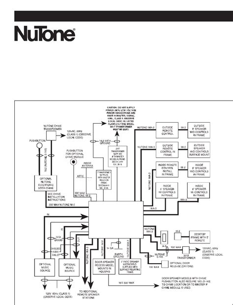 nutone outdoor speaker wiring diagram outdoor