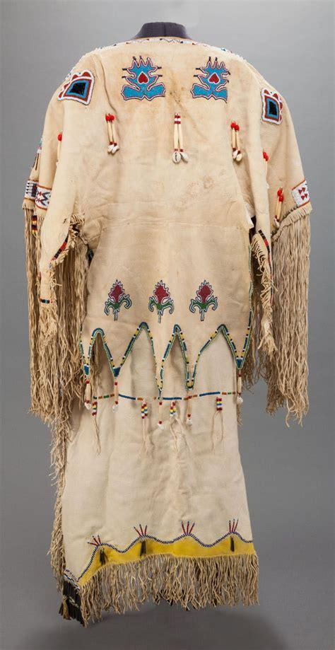 beadwork clothes kiowa beaded hide dress back c 1910 vedauwoo