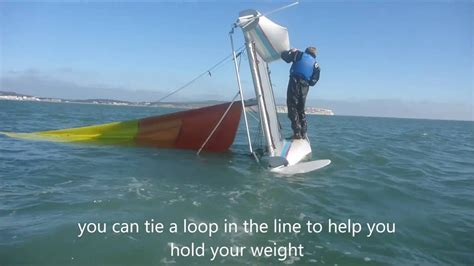righting a capsized catamaran righting an inverted catamaran youtube