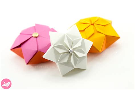 Hexagonal Origami - origami hexagonal tutorial paper kawaii