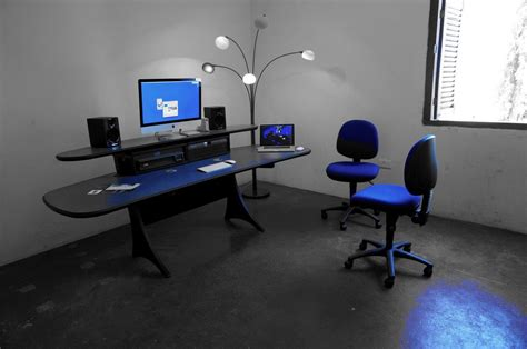 Media Workstation Desk by Audio Media Desks Compliment New Recording Studio Mw Systems