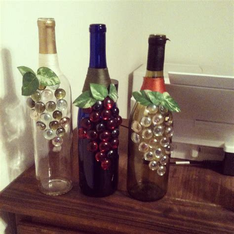 craft projects with wine bottles decorated wine bottles crafts