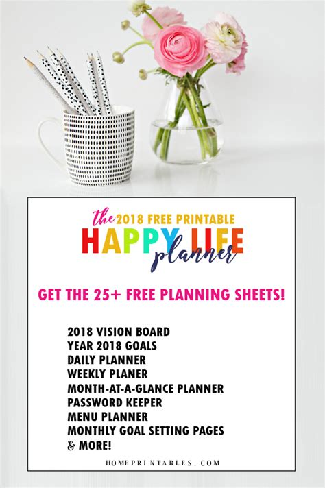 printable life planner 2018 free printable 2018 planner 25 amazing organizers home
