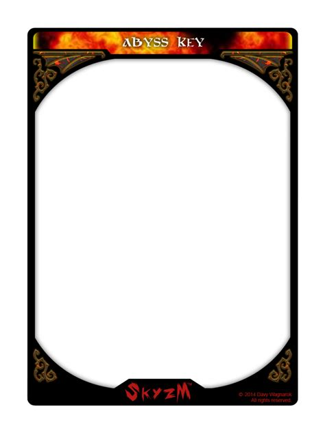 magic card template png skyzm hoe abyss key card template by davywagnarok on