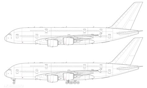 airbus a380 800 blank illustration templates norebbo