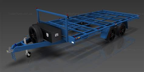 Home Blue Prints by Flat Top Wide Bed Trailer