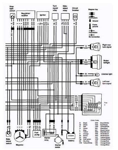 electrical wiring diagram of 1992 suzuki vs800 intruder uk