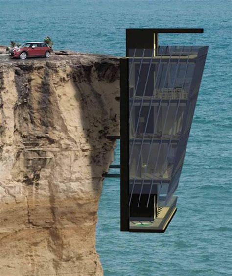house on side of cliff for those who live life on the edge new luxury home dangles from side of cliff