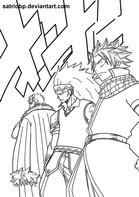dragon slayer coloring page fairy tail 292 sannin no dragon slayer by satriobp on