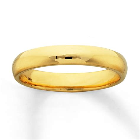14k Gold Wedding Band by S Wedding Band 14k Yellow Gold 4mm