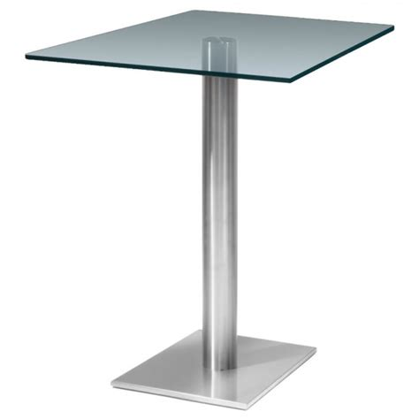 Clear Kitchen Table Turin Square Clear Glass Kitchen Table