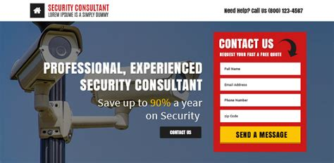 best responsive security services template buy landing