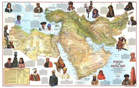 middle east map ethnic map showing the various ethnicities of the middle east